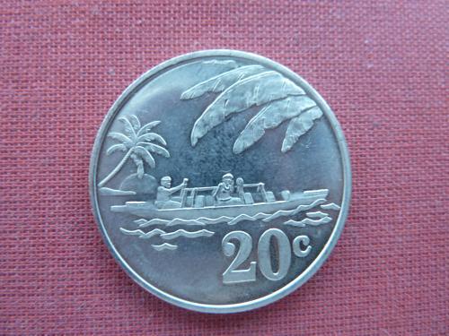 Токелау 20 центов  2012г.  редкие