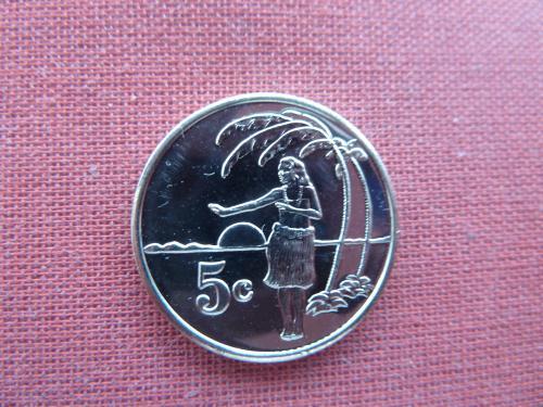 Токелау 5 центов  2012г. UNC редкие