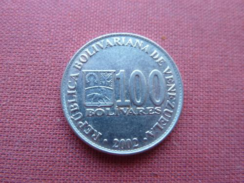 Венесуэла 100 боливаров 2002г.