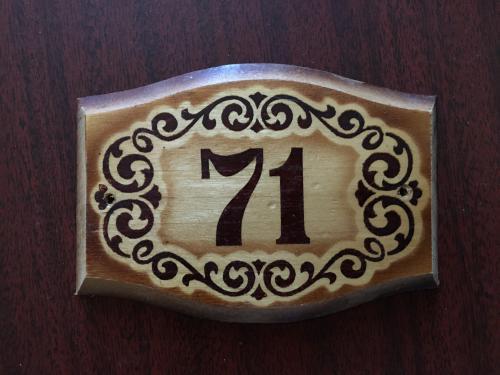   Табличка квартирная номерная Номер СССР