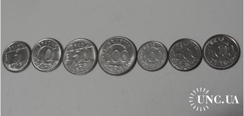 Бразилия набор монет UNC 7 шт.