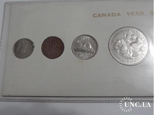 Канада годовой набор 1970 г. UNC 6 шт.