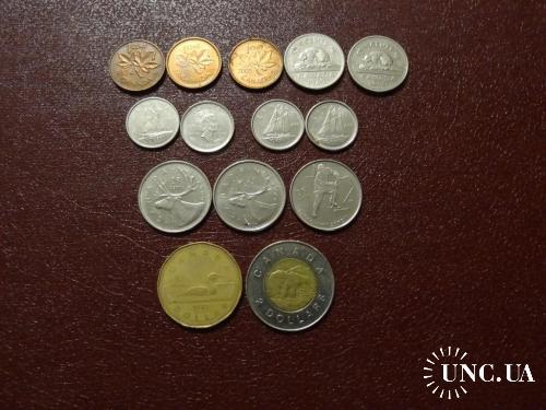 Канада набор монет 14 шт.