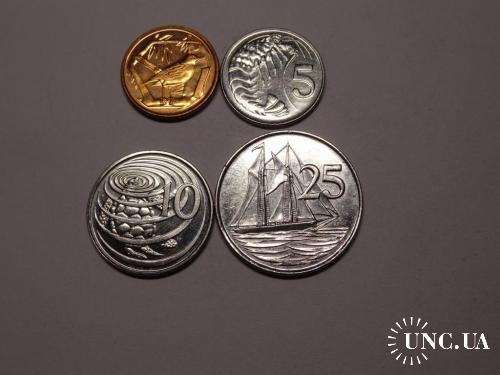 Каймановы острова набор монет UNC 7 шт.