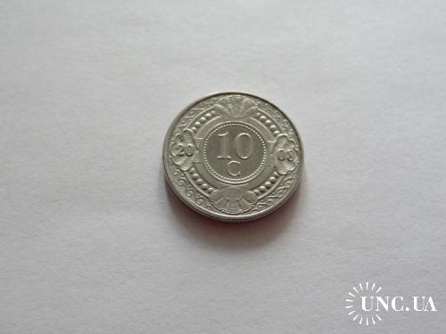 Нидерландские Антильские острова 10 центов 2008 г.