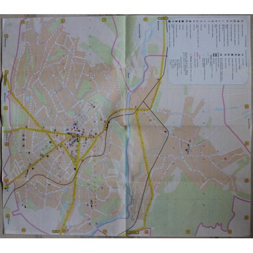 Черновцы.План.Туристическая схема.1981 год.Карта.Украина.СССР