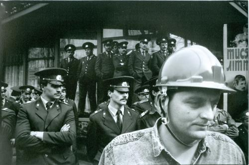 Фото художественное Шахтер Милиция Полиция Пропаганда СССР Украина Art Photo Miner Police USSR