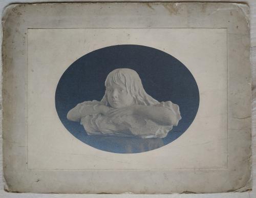 Фото Скульптура Бюст девочки Паспарту Винтаж