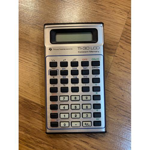 Калькулятор Texas Instruments TI-30 LCD Electronic Calculator Vintage 1984 Италия