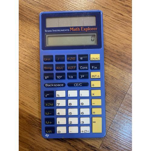 Калькулятор Texas Instruments Math Explorer Electronic Calculator Vintage