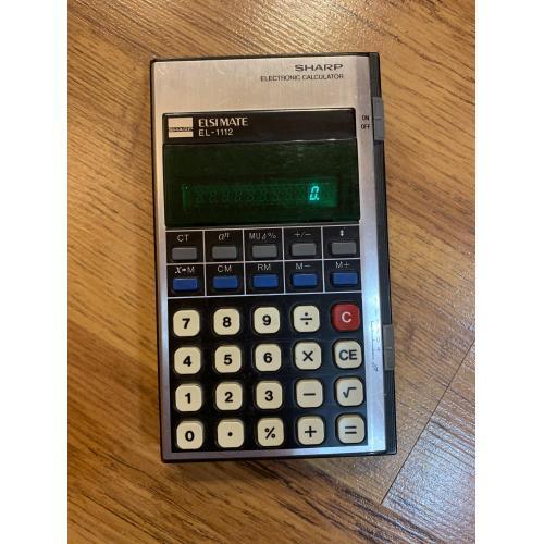 Калькулятор Sharp Elsi Mate EL-1112 Electronic Calculator Vintage