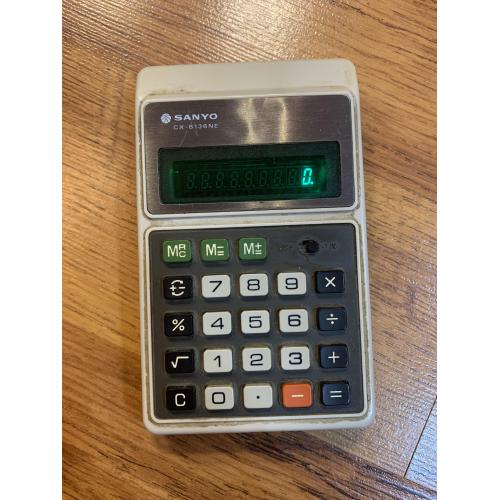 Калькулятор Калькулятор Sanyo CX-8136NE Electronic Calculator Vintage