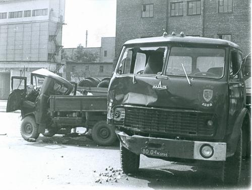 Киев Автомобиль МАЗ ДТП Дорожно транспортное проишествие ГАИ 1980-е годы