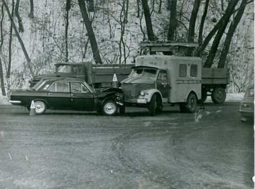 Киев Автомобиль Волга ДТП Дорожно транспортное проишествие ГАИ 1970-е годы