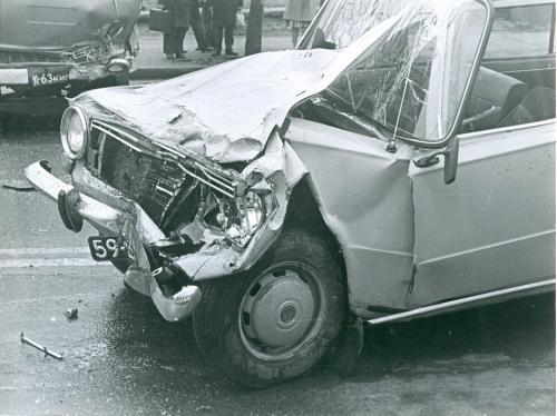 Киев Автомобиль Жигули ДТП Дорожно транспортное проишествие ГАИ 1970-е годы