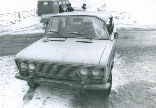 Киев Автомобиль Жигули ДТП Дорожно транспортное проишествие ГАИ Милиция 1970-е годы