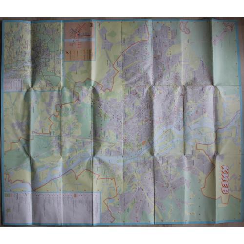 Киев.План.1989 год.Карта.Украина.СССР