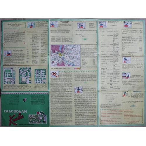 Киев.План.Садоводам Киева.1993 год.Карта.Украина.