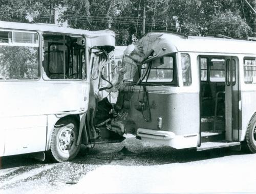 Киев Троллейбус Автобус ДТП Дорожно транспортное проишествие ГАИ 1970-е годы