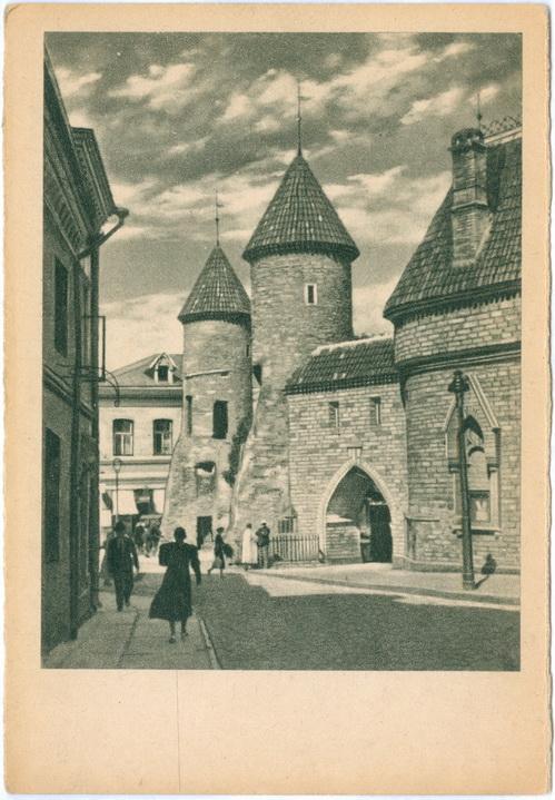 Таллин Tallinn Eesti Viruvarav Altertümliches Stadttor № 123 Verlag K. Legu Эстония Прибалтика
