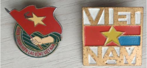 Значок Вьетнам Социализм Пропаганда Badge Vietnam Socialism Propaganda