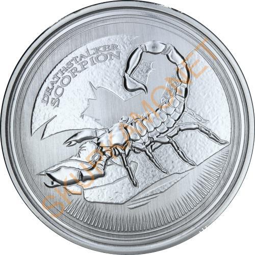 Серебряная монета 1oz Палестинский Желтый Скорпион 500 франков КФА 2017 Чад