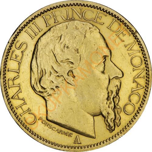 Золотая монета 100 франков 1886 Монако