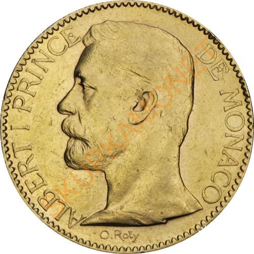Золотая монета 100 франков 1896 Монако