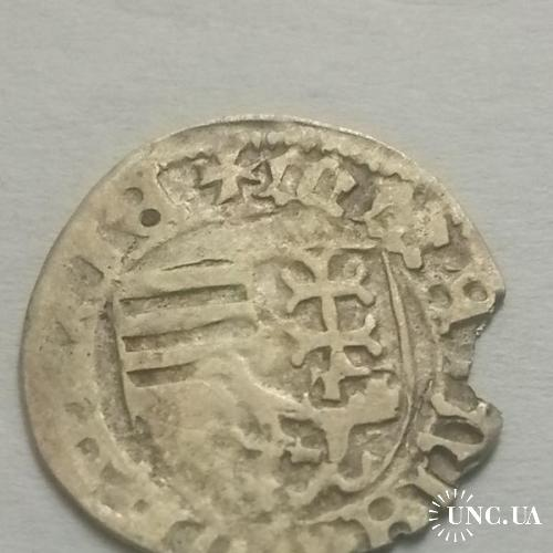 Королевство Венгрия денар без даты Уласло (Владислав) II (1490-1516)