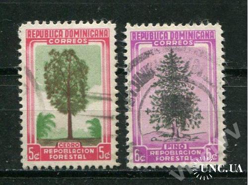 Доминикая респ. 1956 год Гашеные Флора