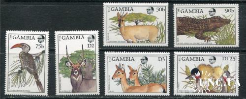 Гамбия 1988 год Неполная Серия ** Фауна