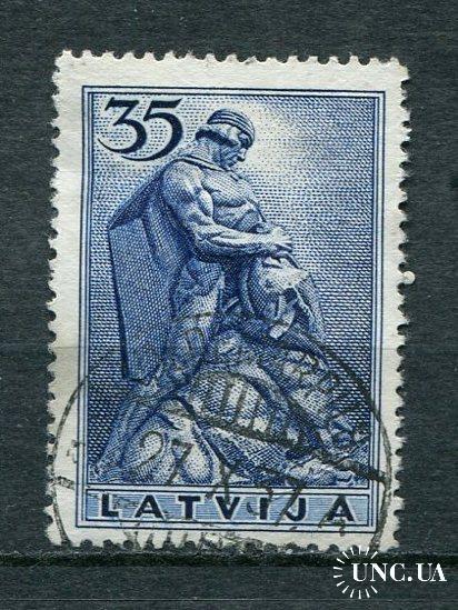 Латвия 1937 год Гашеная Памятник
