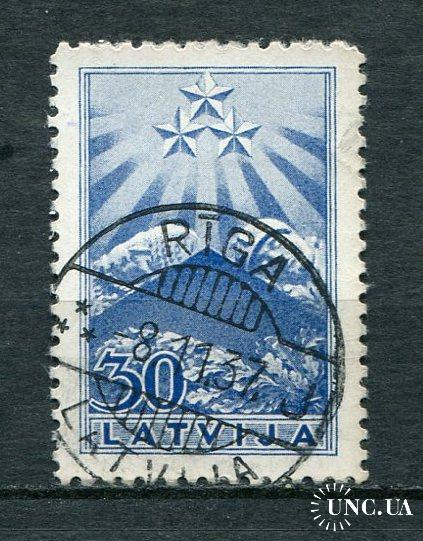 Латвия 1937 год Гашеная