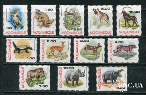 Мозамбик 1976 год Серия ** Фауна Млекопитающие