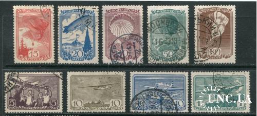 СССР 1938 серия гашеная Авиа Спорт