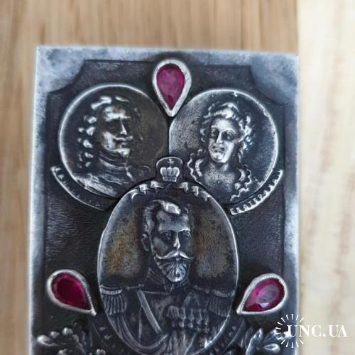 Серебряная спичечница, клеймо Фаберже
