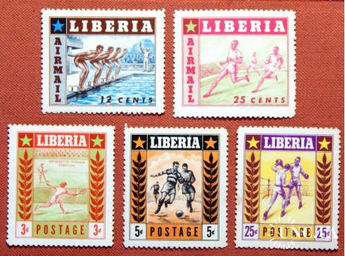 """Серія """"Спорт """". Ліберія. MNH. 1955р."""