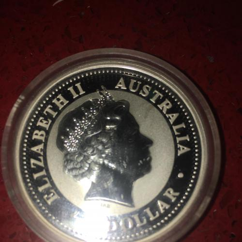 1 доллар Австралия Год собаки серебро