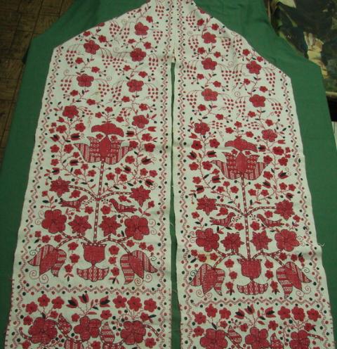 редкая старинная вышивка 100 лет