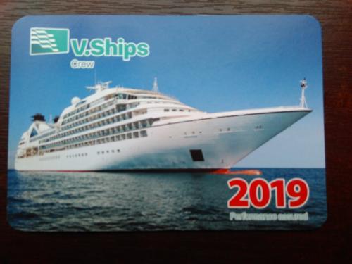 Календарик Ви-шипс 2019 океанский лайнер