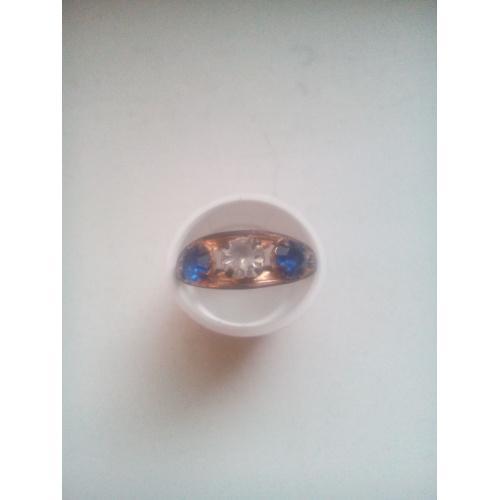 Кольцо з камнями позолота проба МК9