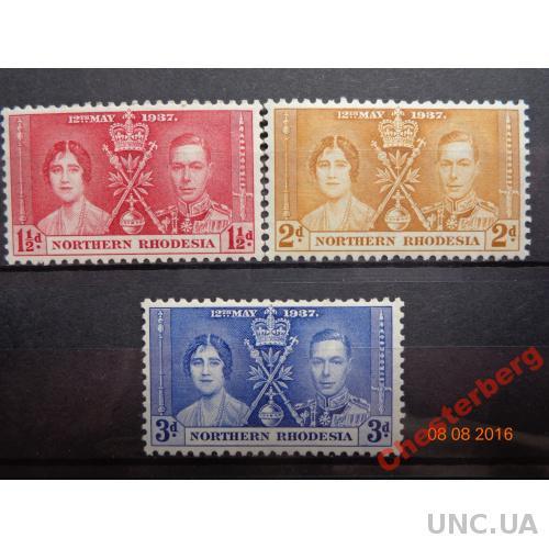 Британская колония Северная Родезия 1937 Коронация