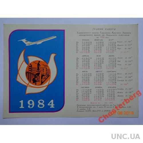 График работы Харьковского авиазавода на 1984 год