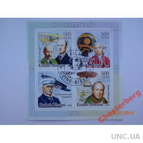 Гвинея-Биссау 500 FCFA 2006 блок гашен АВИАЦИЯ 1