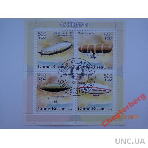 Гвинея-Биссау 500 FCFA 2006 блок гашен ДИРИЖАБЛИ 1