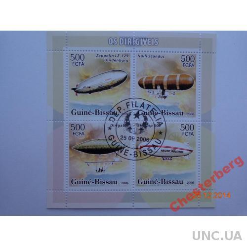 Гвинея-Биссау 500 FCFA 2006 блок гашен ДИРИЖАБЛИ 2