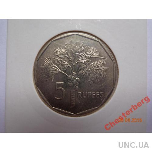 Сейшельские о-ва 5 рупий 2007 состояние редкая
