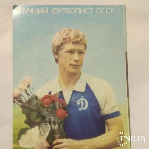 Календарик * Фото Сегол И.М. * Динамо Киев * А. Михайличенко * 1989