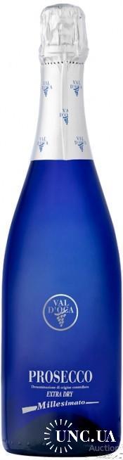 Вино игристое итальянское коллекционное «Val d'Oca Blu Prosecco», бутылка 0,75 литра, разлив - 2017
