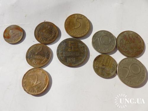 Болгария  стотинки  1 2 5 10 20